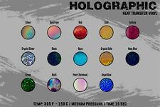 "Holographic Heat Transfer Vinyl 20"" x 3 Yards"