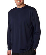 UltraClub 8422 Basic Cool & Dry Long-Sleeve Performance Interlock Tee T Shirt