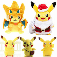 Anime Pokemon Pikachu Cosplay Plush Stuffed Toy Soft Dolls Birthdays Xmas Gift
