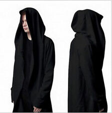 New Mens Fashion Avant-Garde Dark Punk Hood Charcoal hot Cape Cardigan Jacket w1