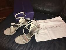 Stuart Weitzman *NEW* - Sultry Size 7.5 M Stiletto Heel Sandal Silver Strappy