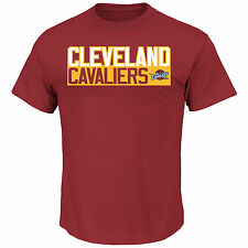Lebron James Majestic Cleveland Cavaliers Name And Number T-Shirt (Maroon)
