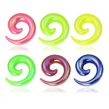 Coating Uv Acrylic Curved Spiral Taper with Plugs Tunnels Stretcher Expander