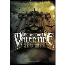 * BULLET FOR MY VALENTINE - SCREAM AIM FIRE LOGO - OFFICIAL TEXTILE POSTER FLAG