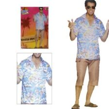 Smiffys Mens Tropical Hawaiian Luau Shirt Summer Holiday Stag Party Fancy Dress