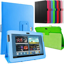 "Leather Folio Case Stand Cover For SAMSUNG Galaxy Note 10.1"" Tablet GT-N8000"