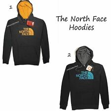 THE NORTH FACE NEW MENS PULLOVER FLEECE HOODIE NWT BLACK/GRAY OUTDOOR LOGO WEAR
