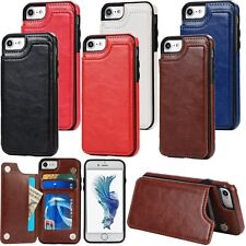 Ultra Thin PU Leather Card Stand Skin Case Cover For Apple iPhone 5S 6 6S 7 Plus