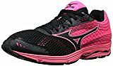 Mizuno Women's Wave Sayonara 3 Running Shoe, Black Neon Pink