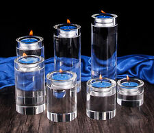 7 Sizes Glass Crystal Votive Tealight Candle Holders Wedding Centerpieces Round