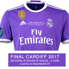 REAL MADRID AUTHENTIC CHAMPIONS LEAGUE MATCH DAY FINAL JERSEY 3 JUNE CARDIFF