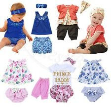 Newborn Infant Kid Baby Boys Girls T-shirt Tops+Pants Toddler Outfits 2pcs Suits