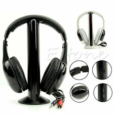 5 in 1 Hi-Fi Wireless Headset Headphone Earphone FM for TV DVD MP3 PC audio