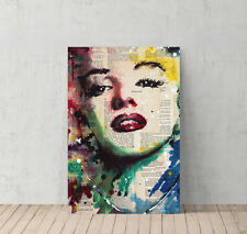 Marilyn Monroe Newspaper Painting Canvas Print Decorative Modern Wall Art Decor