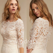Elegant Half Sleeve White Ivory Lace Jackets Wedding Shawl Applique Bridal Wraps