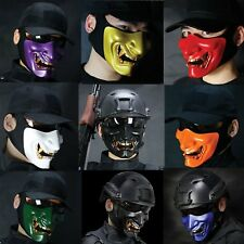 Costume Halloween Cosplay Party Airsoft Skull Motorcycle Skeleton Half Face Mask