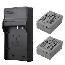2x NB-7L NB 7L Battery + USB Charger For Canon Powershot G10 G11 G12 SX30IS