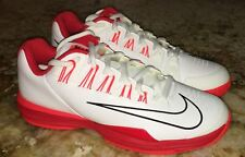 NIKE Lunar Ballistec 1.5 White Red Crimson Tennis Shoes Sneakers Mens 8.5 10.5