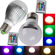 E26 E27 IR Controller 3W 5W 10W RGB 16Color Change LED Magic Light Bulb Lamp HOT
