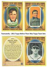 2011 Topps Before There was Topps Baseball Set ** Pick Your Team **
