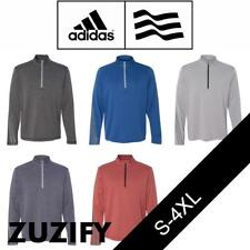 Adidas Golf Brushed Terry Heather Quarter-Zip Pullover. A274