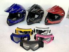 Motocross MX Helmet Adult  Off-road Dirt Quad Motorbike M,L,XL + Clear Goggles