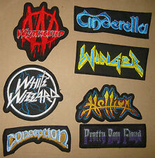 CONCEPTION-PRETTY BOY FLOYD-HELLION-WINGER-CINDERELLA-Embroidered PATCH