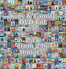 Kids & Family DVD Lot #1: 246 Movies to Pick From! Buy Multiple And Save!