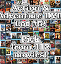 Action & Adventure DVD Lot #5: 112 Movies to Pick From! Buy Multiple And Save!