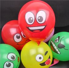 "12"" 100pcs Emoji Latex Balloons Party assorted Smiley Face Balloon Emotions Lot"