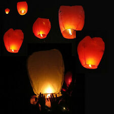 20/50Pcs White Paper Chinese Lanterns Sky Fly Candle Lamp for Wish Party Wedding