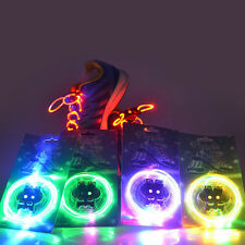 LED Shoelaces Light Up Shoe Laces Flash Glow Stick Strap Rave Disco KTV Party YY