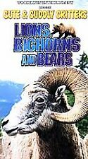 NEW Cute & Cuddly Critters: Lions Bighorns Bears [VHS]