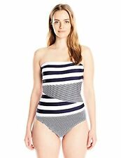 Anne Cole Women's Plus-SZ Rugby Stripe One-Piece Swimsuit - Choose SZ/Color