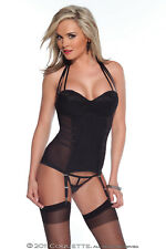 Coquette, Power Net Bustier W/Padded Cups & Boning, Sexy Lingerie, 8-10, 14-16