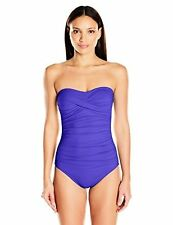 Anne Cole Women's Front-Shirred Bandeau One Piece Swimsuit - Choose SZ/Color