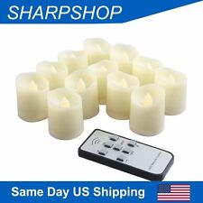 Flameless LED Candle Tea light Votive Flickering Battery Control Timer Christmas