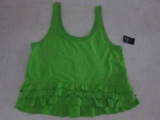 Hollister by Abercrombie Women Sleeveless Ruffles Shirt Asstd.Colors -NWT $24.50