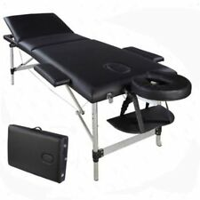 Hot Portable Aluminum 3 Fold Massage Table Facial SPA Bed Tattoo W Carry Case EK