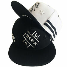 Summer Baseball Cap Unisex Hip-Hop Snapback Hat Adjustable Fashion Black White