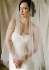 New1t Ivory WHITE  Fingertip Length cut Edge veil  Wedding Bridal Veil With Comb