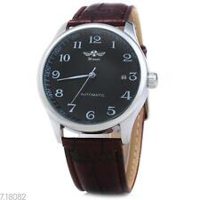 Winner W062 Men Automatic Mechanical Watch  Leather Band Date Display