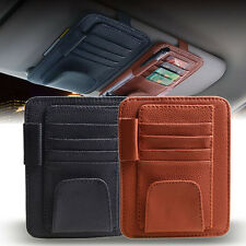 Car Sun Visor Multi-Pocket Card Sunglasses Pen Holder Black Brown Organizer Bag