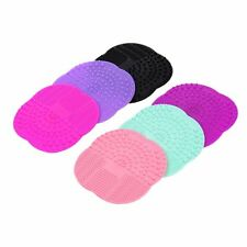 Silicone Makeup Brush Cleaner Washing Scrubber Board Cleaning Mat Hand Tool EB