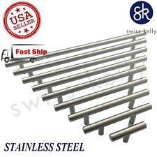 New Solid Stainless Steel T Bar Pull Handle Cabinet Door Kitchen Drawer Hardware