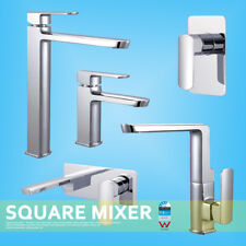 Square TALL HIGH Basin Wall Shower Swivel Kitchen Sink Vanity Mixer Spout Tap
