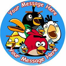 """ANGRY BIRDS ROUND 7.5"""" CAKE TOPPER ICING OR RICEPAPER"""