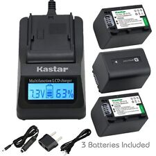 NP-FV70 Battery& Fast Charger for Sony HDR-CX160 CX190 CX200 CX210 CX220 CX230