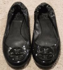 Tory Burch Reva Black Patent Leather Ballet Flats
