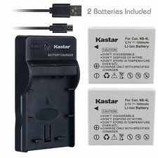 NB-4L Battery&Slim USB Charger for Canon PowerShot SD1000, SD1100 IS, SD1400 IS